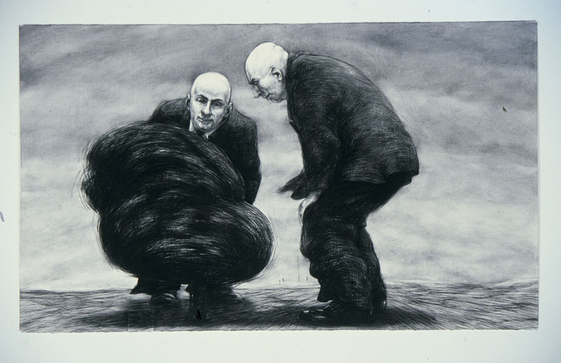 As The World Turns, 2006 charcoal on paper 107 x 150cm
