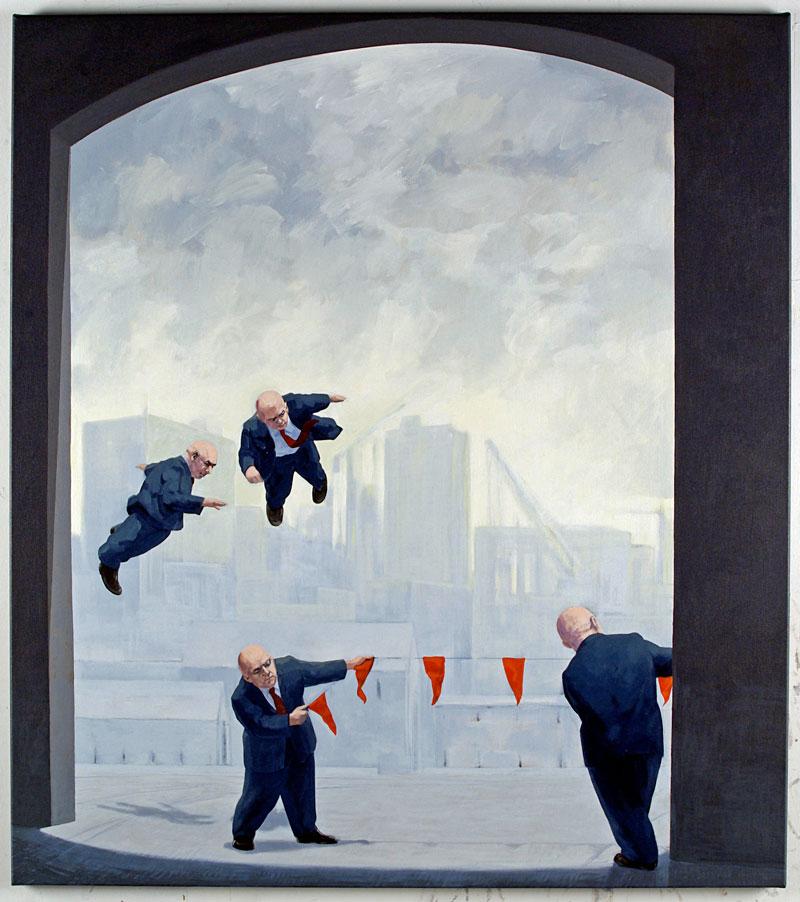 Hover, 2010 acrylic on canvas 137 x 122cm