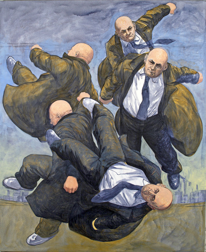 Thrown Tumble, 2012 acrylic on canvas 183 x 153 cm