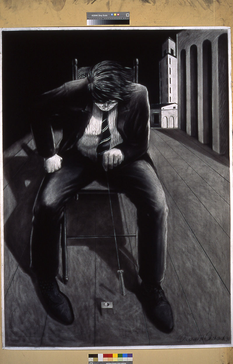 The Architect Charcoal on paper 150x107cm