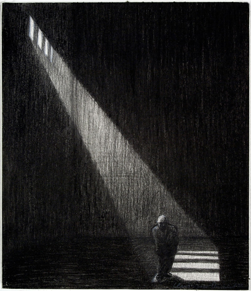 Passage, 2009 charcoal on paper 210  x 180cm