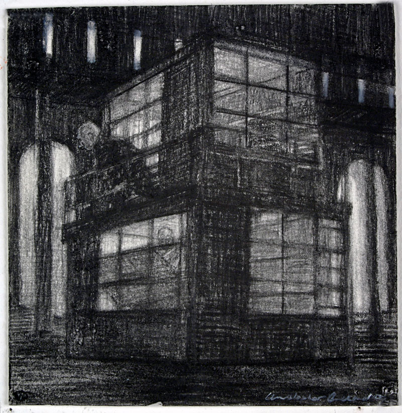 Office, 2009 charcoal on paper 120  x 115cm