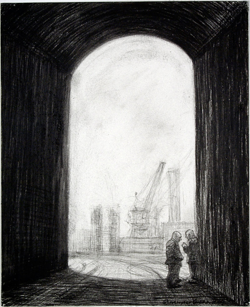 The Plan, 2009 charcoal on paper 210  x 180cm